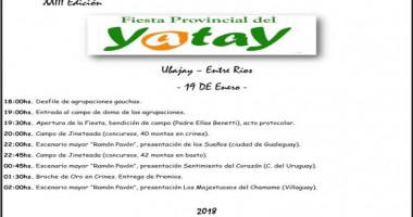 Fiesta del Yatay en Ubajay